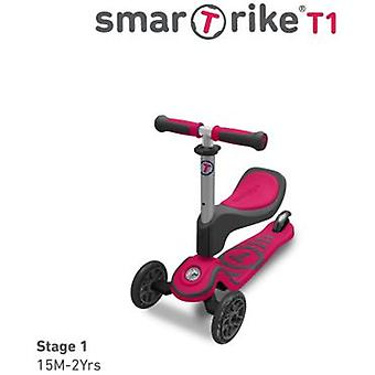 Smart Trike Scooter T1 Rosa Magenta 15 Meses (Outdoor , On Wheels , Scooters)