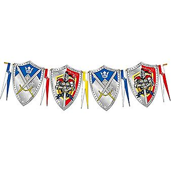 Knight pennant Kids Party 6 m Knight party birthday