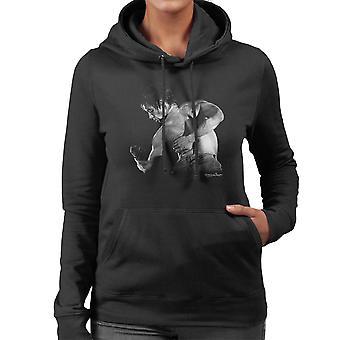 Iggy Pop Back Manchester Apollo 1977 Women's Hooded Sweatshirt