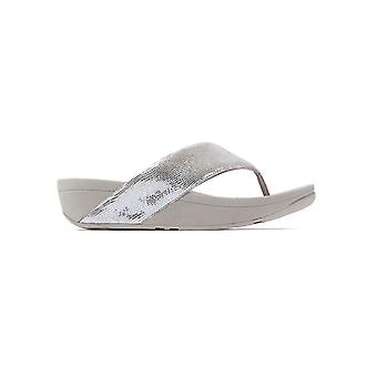 FitFlop Women's Swoop Toe Thong Sandals - Silver