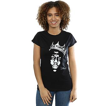 Notorious BIG kvinders Biggie Crown ansigt T-Shirt