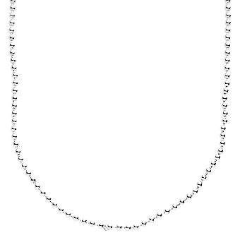 Sterling 925 Silver bling BALL BEAD necklace - 2mm