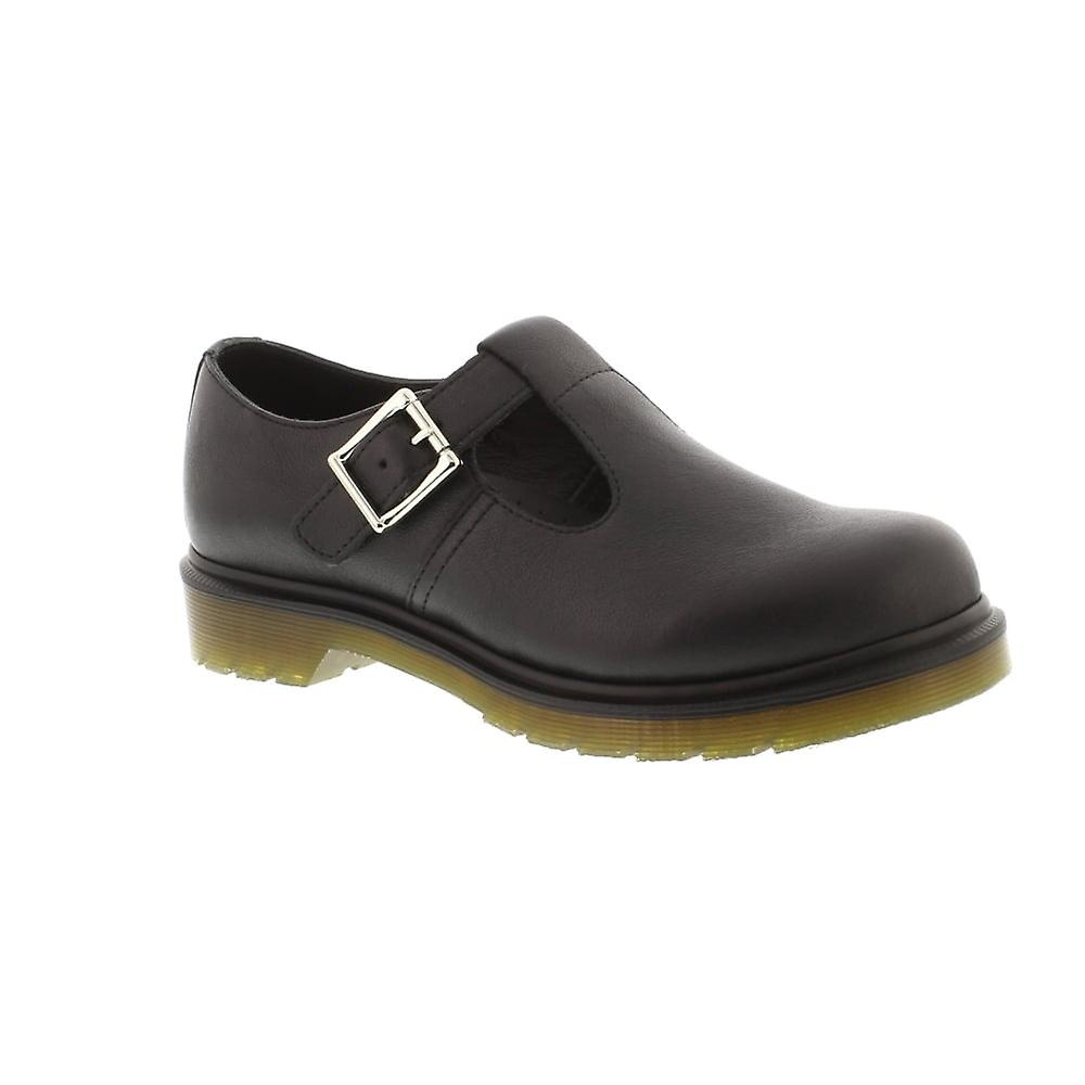 Dr Martens Polley Plain Welt - Black Virginia (Leather) Womens Shoes