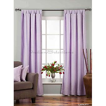 Lavender Tab Top  Velvet Curtain / Drape / Panel  - Piece