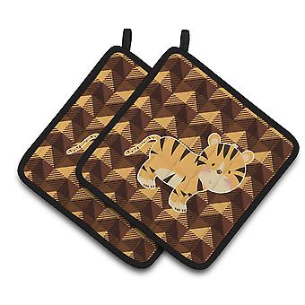 Carolines Treasures  BB7029PTHD Tiger Pair of Pot Holders
