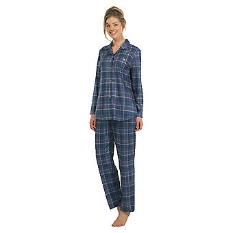 BlackSpade 6127-231 Women's Blue Check Pajama Sleepwear Pyjama Set
