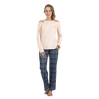 BlackSpade 6128-207 Women's Off White Pajama Sleepwear Pyjama Set