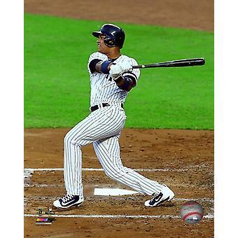 Starlin Castro Game 5 of the 2017 American League Championship Series Photo Print