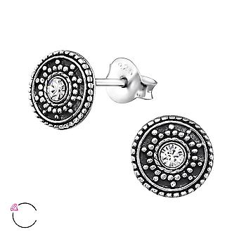 Round Antique Crystal From Swarovski® - 925 Sterling Silver Ear Studs - W32915x
