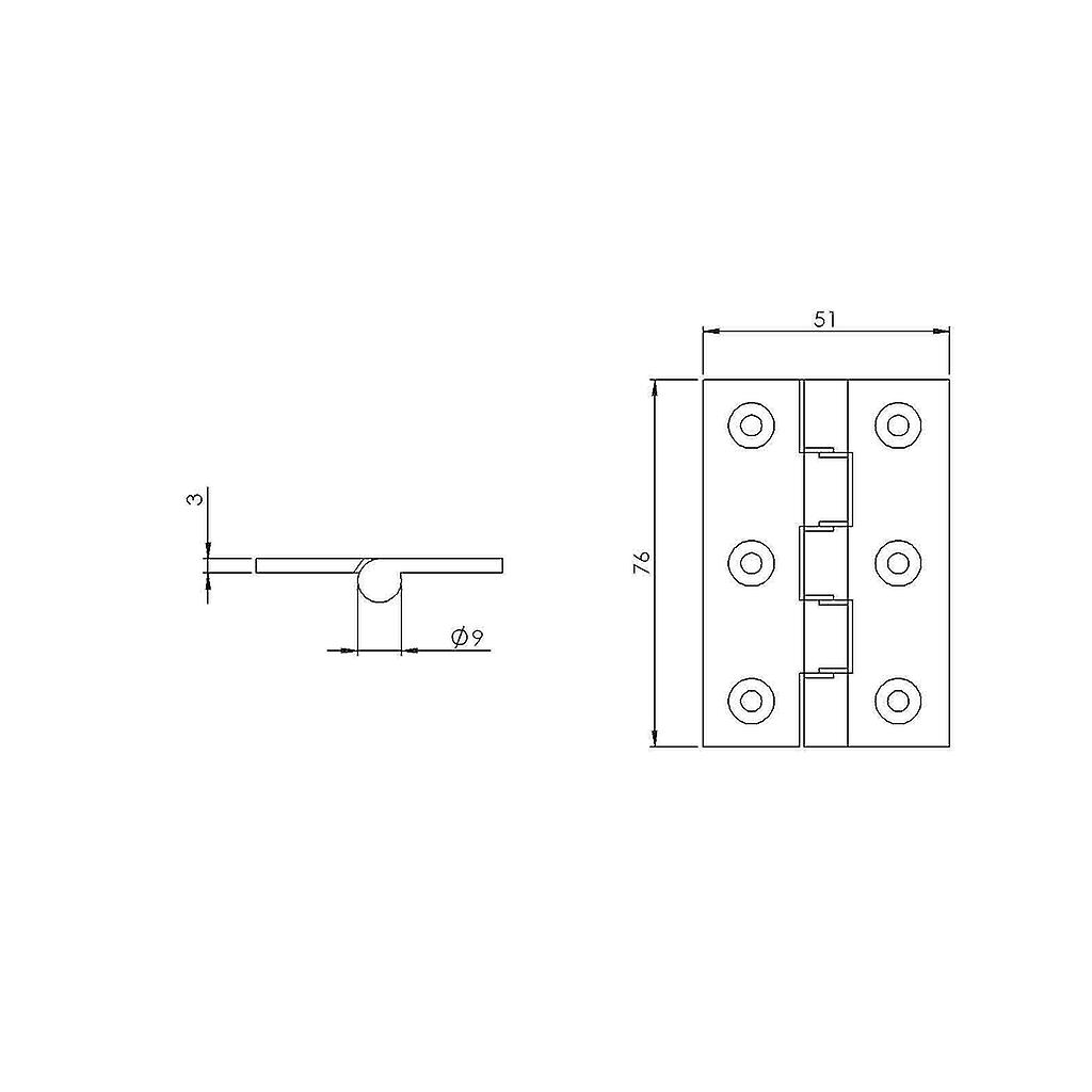 Premium Quality M4TEC ZD3 Satin Chrome Brass Interior DPBW Butt Door Hinge - Sturdy, Durable & Easy To Install – With Double Phosphor Bronze Washers & Pin – Ideal For General Joinery & Furniture. 2pcs