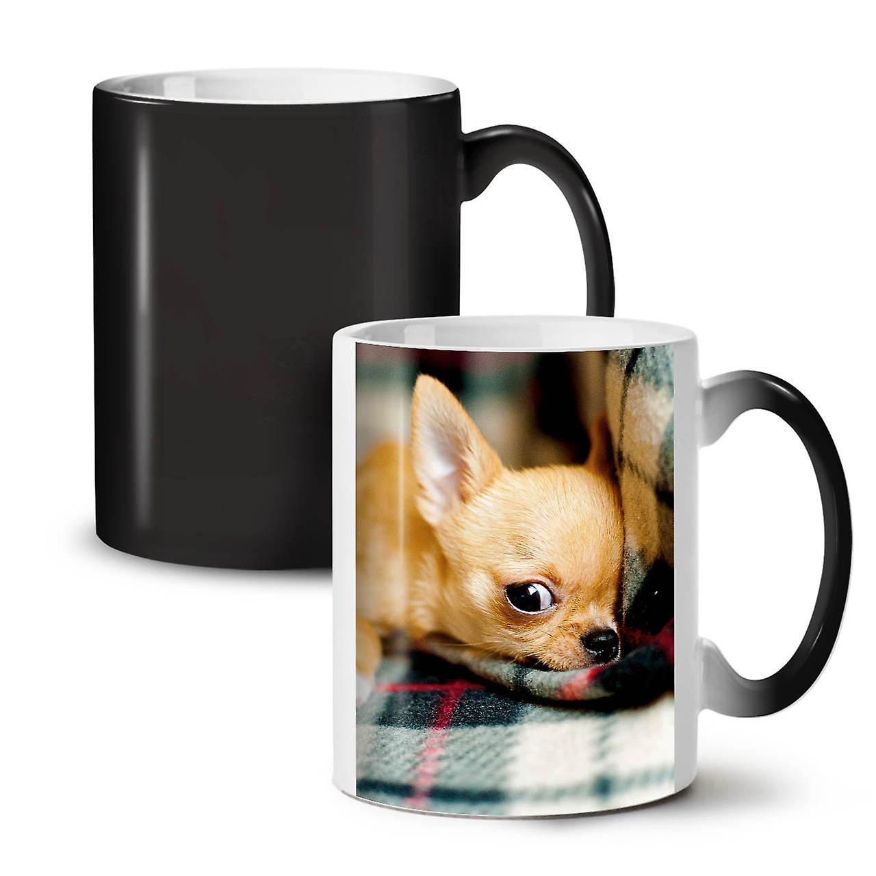 Chihuahua Mignon Coloris OzWellcoda Thé Nouveau Noir Chien Tasse Changeant 11 Café Céramique sQrxhdCt