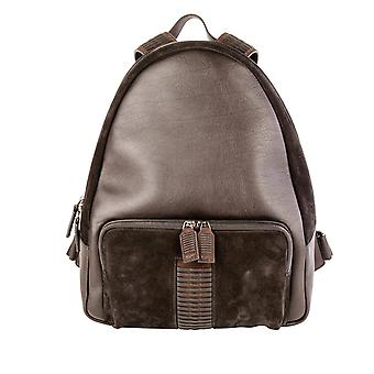 Salvatore Ferragamo men's 0643814 brown/black leather backpack