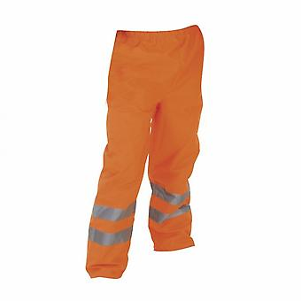 Yoko Mens Hi-Vis Waterproof Contractors Trousers / Pants