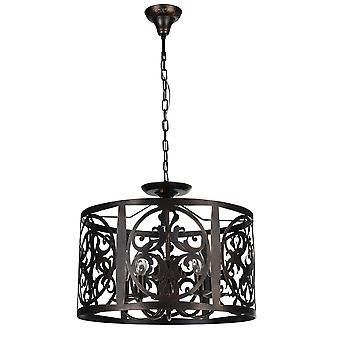 Maytoni Lighting Rustika House Collection Pendant, Brown