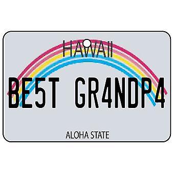Hawaii - Best Grandpa License Plate Car Air Freshener