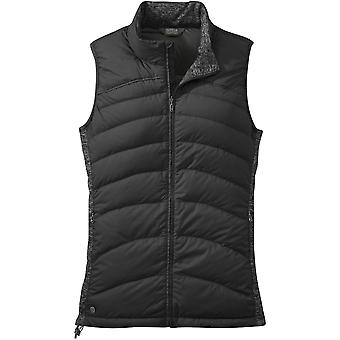 Outdoor Research Womens PLaza Down Vest Black (UK Size 10)