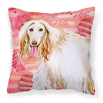Carolines Treasures  BB9789PW1414 Afghan Hound Love Fabric Decorative Pillow