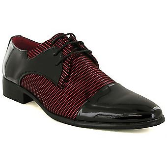 Mens New Shiny Two Tone Smart Lace Up Wedding Formal Oxford Shoes