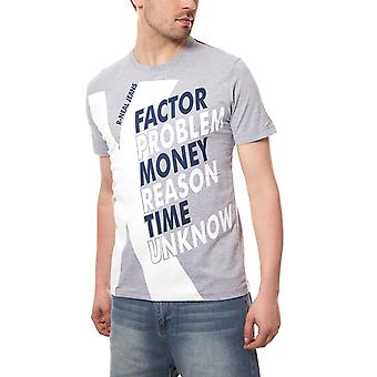 RUSTY NEAL T-Shirt factor men's short-sleeved grey