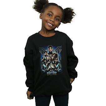 Marvel Girls Black Panther Movie Poster Sweatshirt