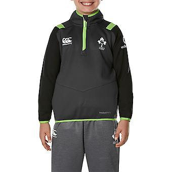 Canterbury Clothing Boys Irish Rugby Quarter Zip Long Sleeve Jacket Top