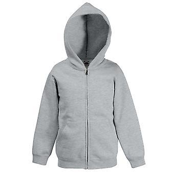 Fruit Of The Loom Kids Hooded Zip Up Sweat Jacket