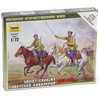 Zvezda Models 1/72 Soviet Cavalry Wwii Snap Kit New Tooling
