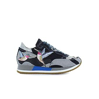 PHILIPPE MODEL ETOILE TROPICAL BIRD BLUE/SILVER SNEAKER
