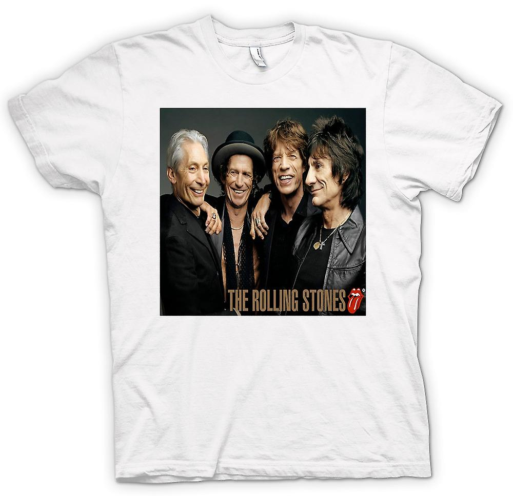 Womens T-shirt - The Rolling Stones - Band Portrait - Lips