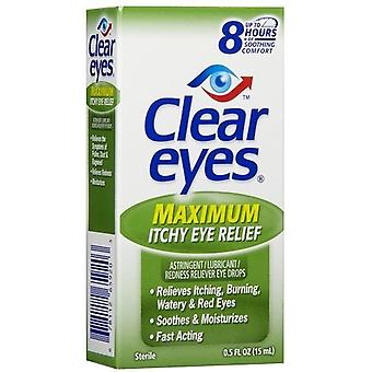 Klare øyne maksimal kløende øyeavstand