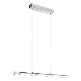 Eglo Cartama 4 Light Hanging Ceiling LED Light, Chrome, Round LED