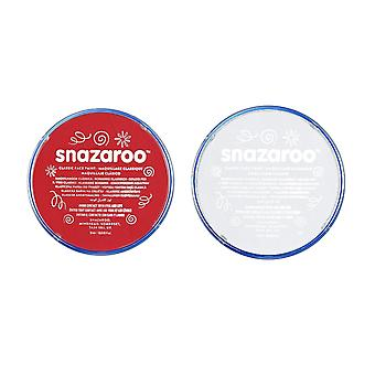 Snazaroo England World Cup Face Body Paint Compact Make Up Fancy Dress-Red and White