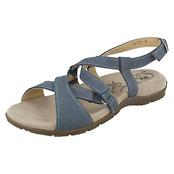 Ladies lett B Strappy sandaler Nancy 78471N - himmelblå Leather - UK størrelse 4 2E/4E - EU størrelse 36,5 - USA størrelse 6