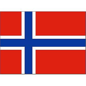Norge flagg 5 ft x 3 ft med hull For hengende