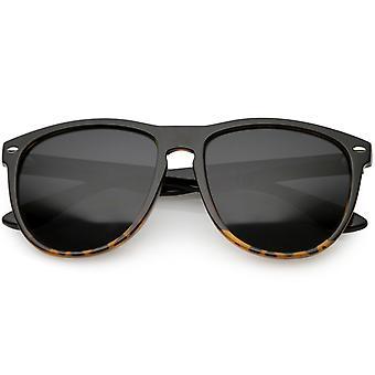 Oversize Keyhole Nose Bridge Horn Rimmed Sunglasses Square Lens 57mm