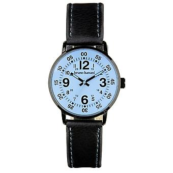 Bruno Banani watch wrist watch of Moros leather analog BR30015