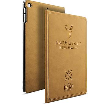 Design bag Backcase smart cover Hell Braun for Apple iPad Mini 4 7.9 inches sleeve new