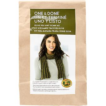 One & Done Yarn Kit-Olive You Knit Scarf