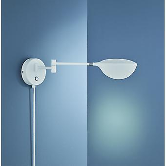 Trio Lighting Tento Modern White Matt Metal Wall Lamp