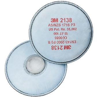 3M 2138 P3 Particulate Dust and Vapour Filters - 1 Pair