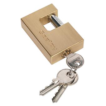 Sealey Pl109 Brass Body Shutter Padlock 75Mm