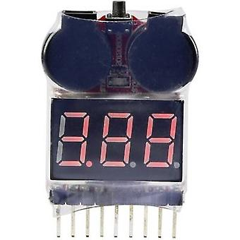 Reely LiPo checker Suitable for batteries:2 - 8