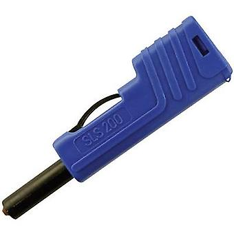 SKS Hirschmann SLS 200 Jack plug Plug, straight Pin diameter: 4 mm Blue 1 pc(s)