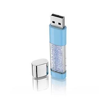 Crystal Blue 8 GB USB key
