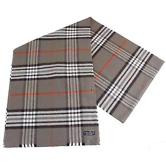 Fraas Checked Scarf - Olive Green