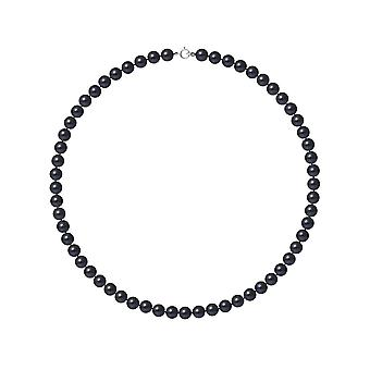 Ras necklace neck woman cultured pearls of freshwater black AA and clasp white gold 750/1000