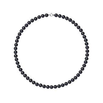 Collier ras du cou Femme Perles de culture d'eau douce Noires AA et Fermoir Or Blanc 750/1000