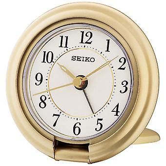 Seiko QHT014G Travel Alarm Clock with Screen Press Function - Gold