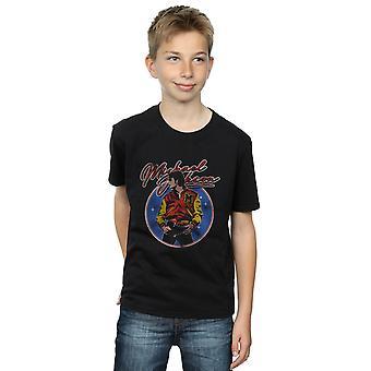 Michael Jackson ragazzi cerchio Thriller Crest t-shirt