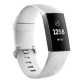 Siliconen armband compatibel met Fitbit Charge 3